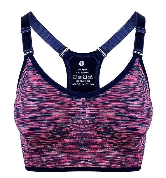 Top Deporte Mujer Sujetador de Tirantes. Top y Sujetador Deportivo de Mujer. (Lápiz Rosa): Amazon.es: Ropa y accesorios