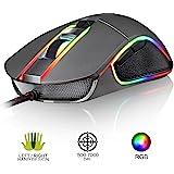 KLIM AIM Mouse da Gaming Chroma RGB – NUOVO – PRECISO – con Cavo USB – regolabile da 500 a 7000 DPI – Pulsanti Programmabili – Comfort per mani di ogni dimensione – Presa Eccellente per Ambidestri – da Gioco per Gamer - Videogiochi