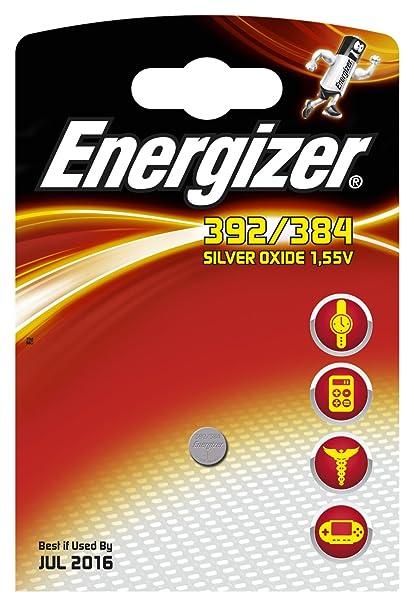 c6e1cd81c Energizer 392 384 SR41 SR736 W - Pilas de botón: Amazon.es: Electrónica