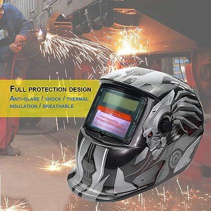 Oscurecimiento automático alimentado por energía solar TIG MIG MMA Máscara eléctrica de la soldadura Casquillo del
