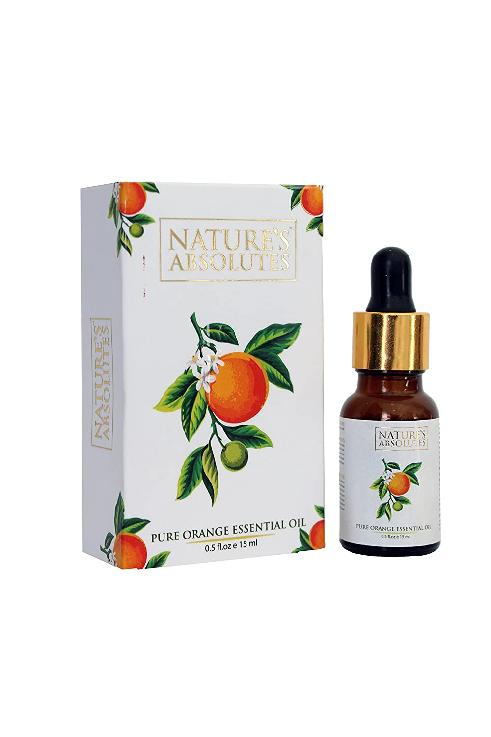 'Nature's Absolutes Pure Orange Essential Oil, For Hair,Skin & Aromatherapy/Diffuser (15 ml/0.5 Fl Oz) Nature's Absolutes