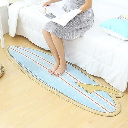 QXX Alfombra de Dormitorio Absorbente Antideslizante Suave, alfombras de área Cocina de Tabla de Surf