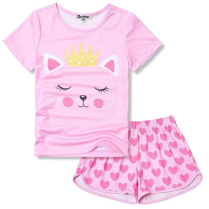 Amazon.com: Jxstar Pijamas para niñas de unicornio pijamas ...