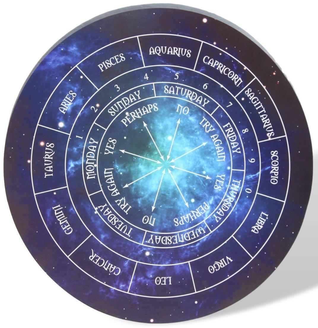 Thorness Round Astrology Pendulum Board - Perfect Reiki, Dowsing, Divination Readings