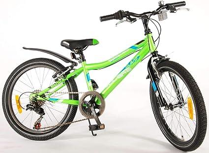 Bicicleta Niño 20 Pulgadas Blade Frenos Alloy al Manillar y Shimano de 6 Velocidades 95% Montada Verde: Amazon.es: Deportes y aire libre