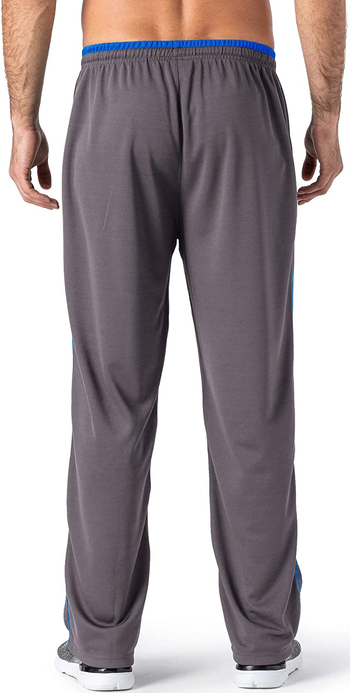 TACVASEN Men's Lightweight Tracksuit Bottoms Jogger Comfortable Open Hem Jogging Trousers with Zip Pockets Grey-02