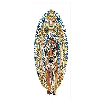 Amazon Com 3d Door Wall Mural Wallpaper Stickers Tiger Large Cat