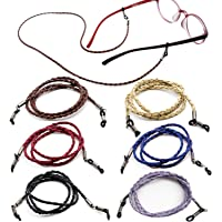Kenkio 6 Pieces PU Leather Eyeglass Strap Eyeglass Chain Eyeglass Cords Retainer