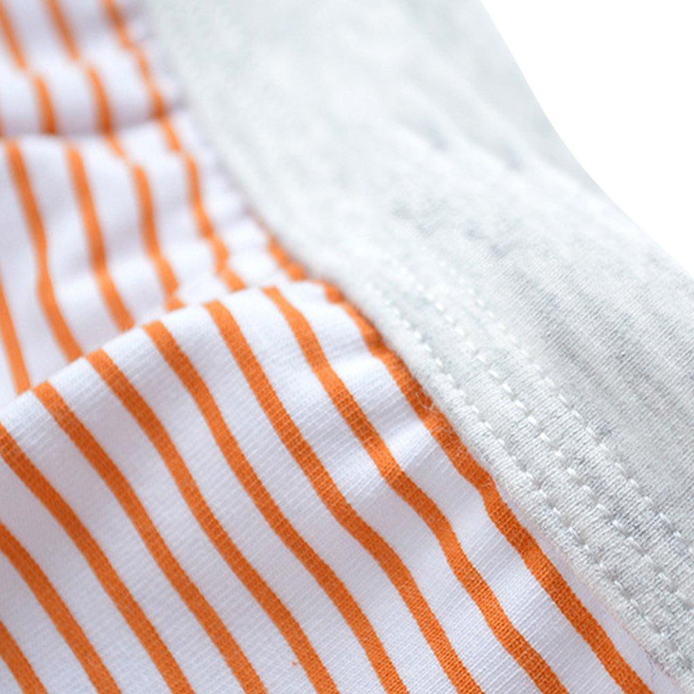 Pack of 4 Orinery Boys Cotton Underwear Striped Boxer Briefs