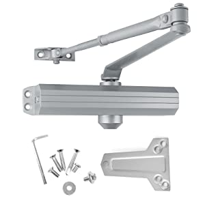 Medium/Heavy Duty Commercial Door Closer, Surface Mounted, BHMA Grade 1, Cast Aluminum, for high-Traffic entrances/doorways, by Lawrence Hardware 5016