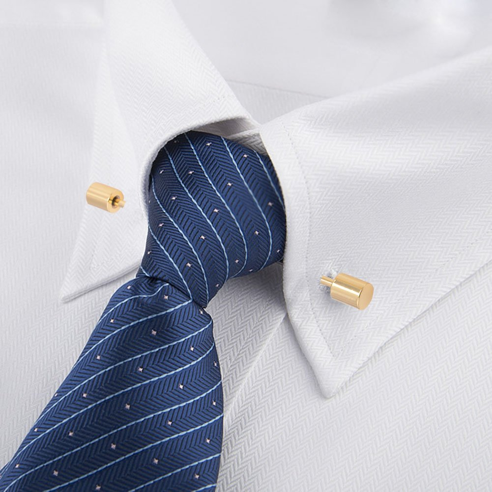 OBONNIE 3PCS Men's Collar Bar Pins Shirts Tie Pins Necktie Cravat Pin Collar Brooch with Gift Box by OBONNIE (Image #8)