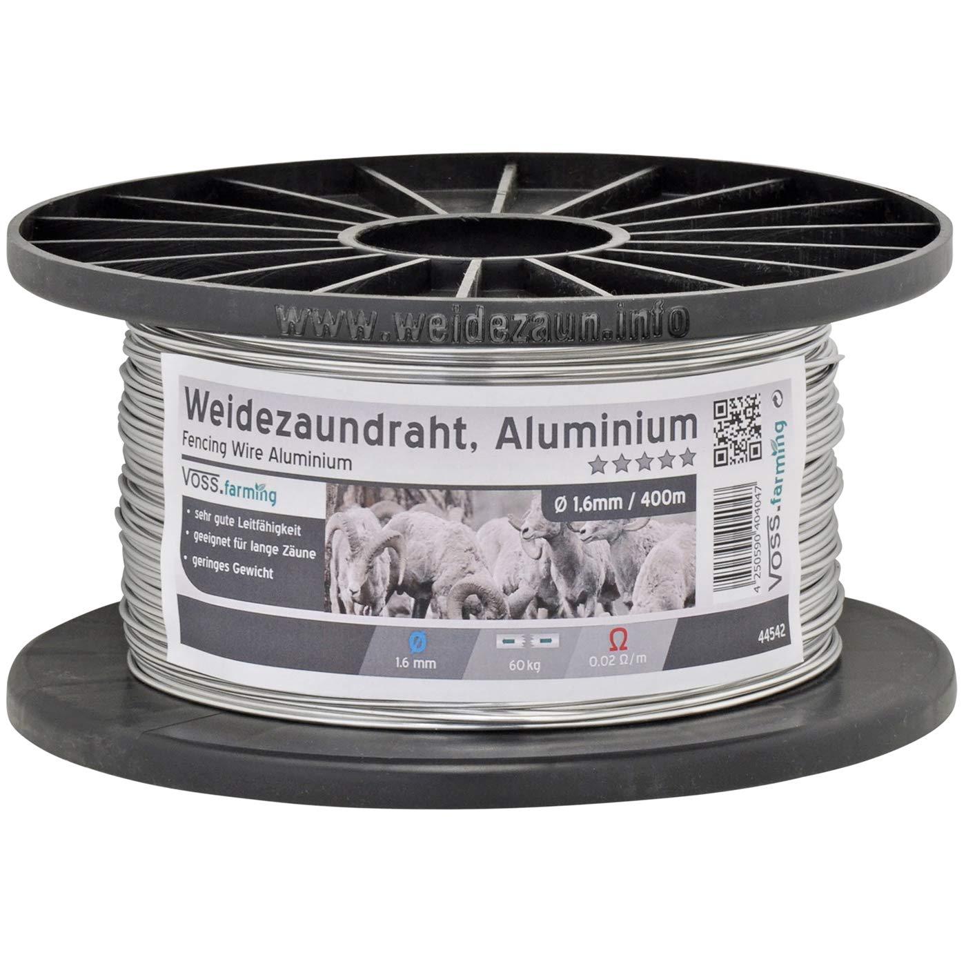 1x Fil d'aluminium VOSS.farming, 400 m / 1,6 mm