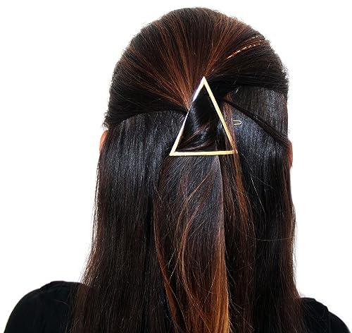 presa di fabbrica prima i clienti design popolare DesiDo® Fermaglio geometrico per capelli di forma circolare, triangolare ea  mezza luna