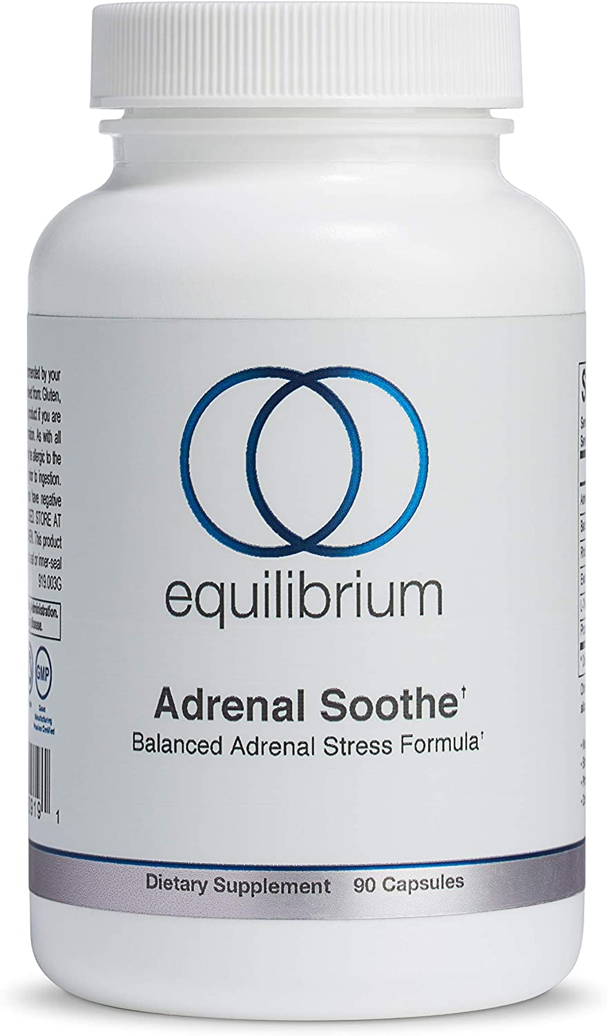 Adrenal Soothe   Stress and Anxiety Relief   Improves Mood, Panic Attack Relief, Relaxation   Ashwagandha, Rhodiola Rosea, L-Theanine   Herbal Adrenal Support, 90 caps   Equilibrium Nutrition