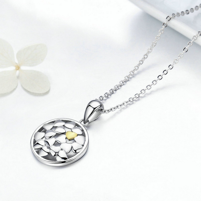 MMC Womens Necklaces Forever Love Open Work Heart Shape Bridel Pendants