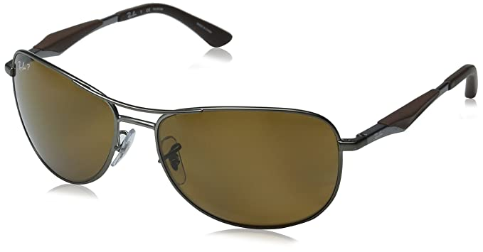 e87c8be6f2895 Amazon.com  Ray-Ban Men s Steel Man Sunglass Polarized Aviator ...
