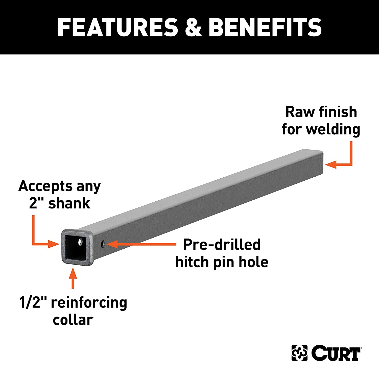 Curt Manufacturing 49480 48 In Receiver Tube