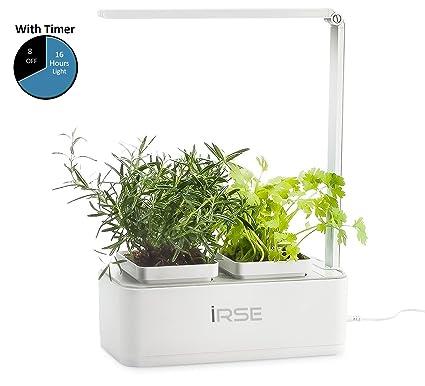 irse indoor garden kit hydroponics led growing system 2 self watering gardening pots - Indoor Garden
