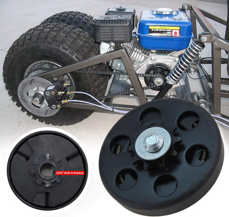 FDJ Centrifugal Clutch 3//4 10 Tooth 212cc Predator Engine Go Kart Clutch with Bolt and Washer Kit