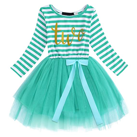 8289907a2 FYMNSI Birthday Dress Infant Baby Girls Toddler Kids 1st   2nd   3rd ...