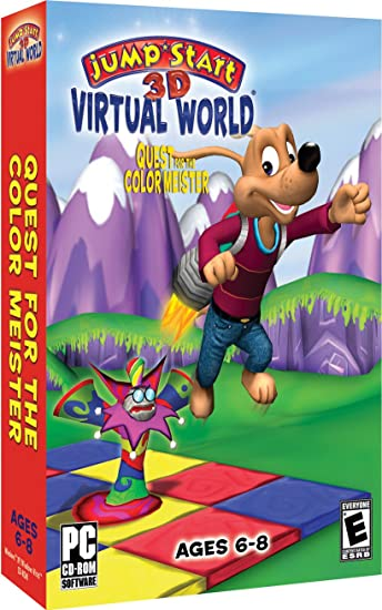 4b7bb4575b6d Amazon.com  Jumpstart 3D Virtual World  Quest for the Color Meister
