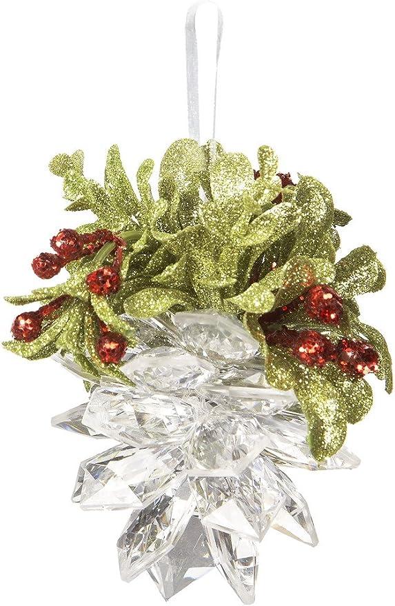 Ganz Mistletoe Cardinal Crystal Ornaments Set of 3 Assorted