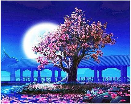 DIY 5D Modern Diamond Painting Starry Sky Crafts Gift Moon Tree Wall Art