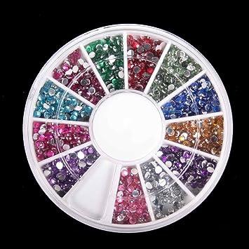 Amazon 3d 2300pcs round nail art rhinestone gems wheel with 3d 2300pcs round nail art rhinestone gems wheel with dotting tool and glue nail art kit prinsesfo Images