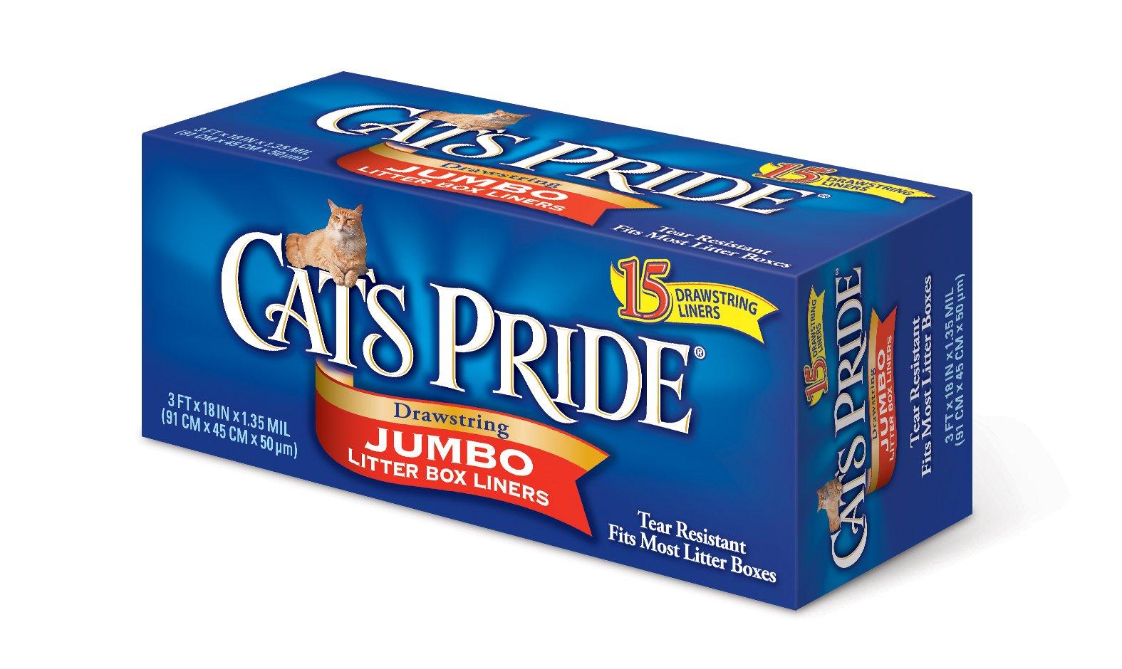 Cat's Pride Drawstring Jumbo Litter Box Liners, 15 Count