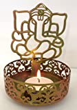 Moradabad Handicrafts Shadow Ganesh Ji Tea Light Holder BY MH