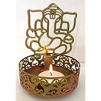 Organonutri Moradabad Handicrafts Shadow Ganesh Ji Tea Light Holder By Mh
