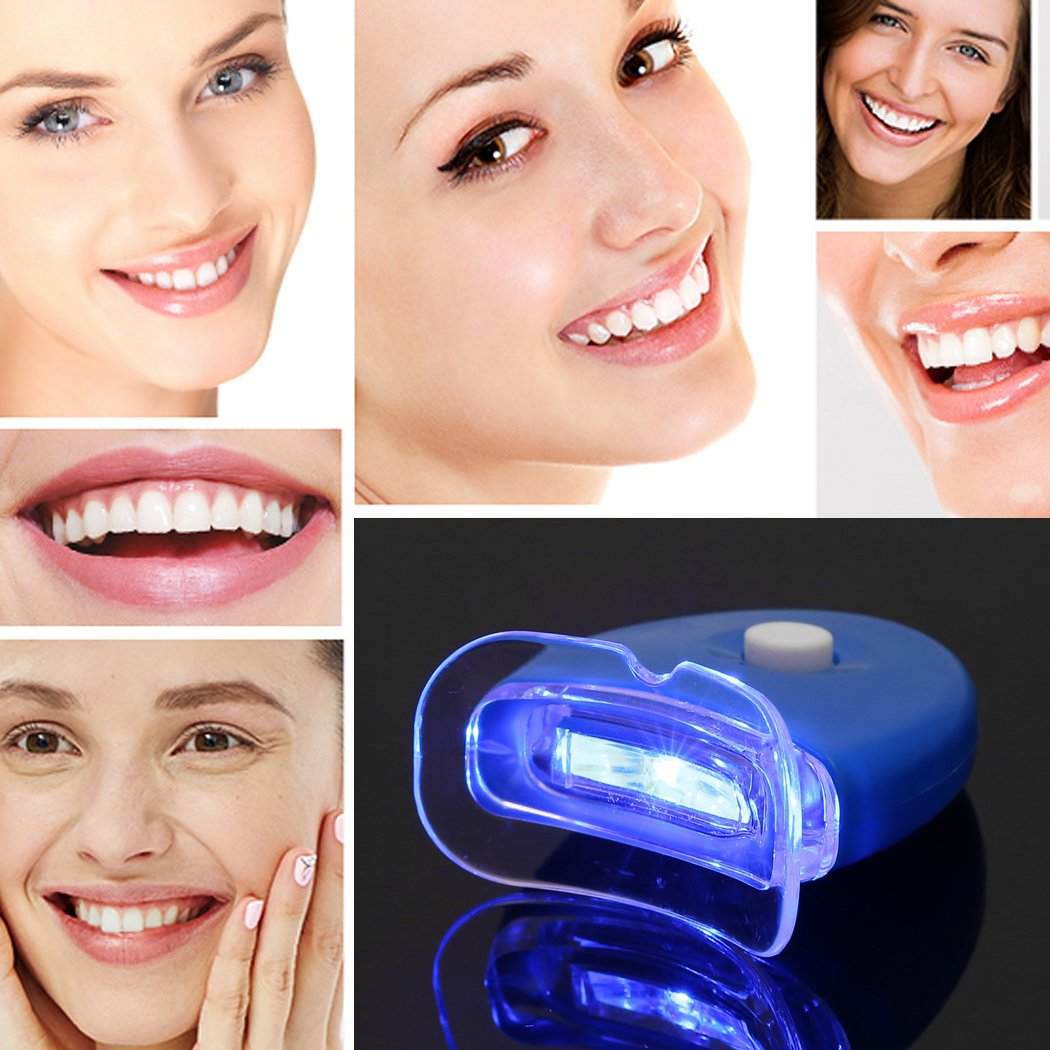 Meharbour Portable LED Light Tooth Whitening Device Handheld Professional Teeth Whitening Light by Meharbour (Image #1)