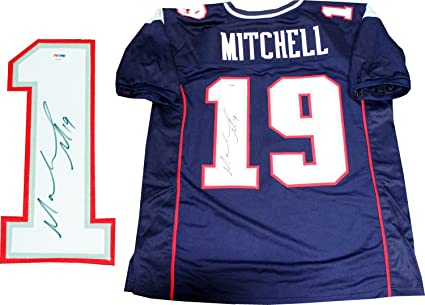 4aed7bc8ffc Image Unavailable. Image not available for. Color: Malcolm Mitchell  Autographed New England Patriots Custom ...