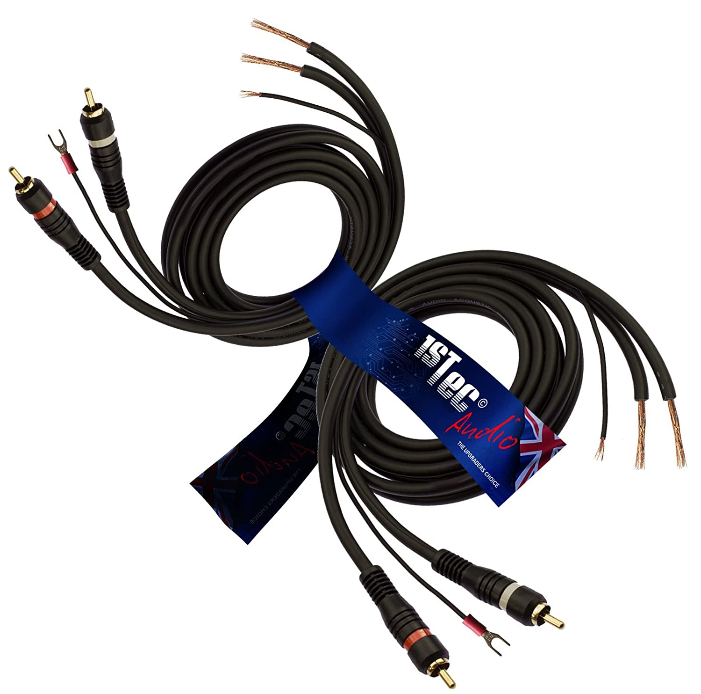 Earth Cable 1STec Audiokabel mit Erdungsanschluss verhindert Feedback und Brummen 2 Metre Full RCA