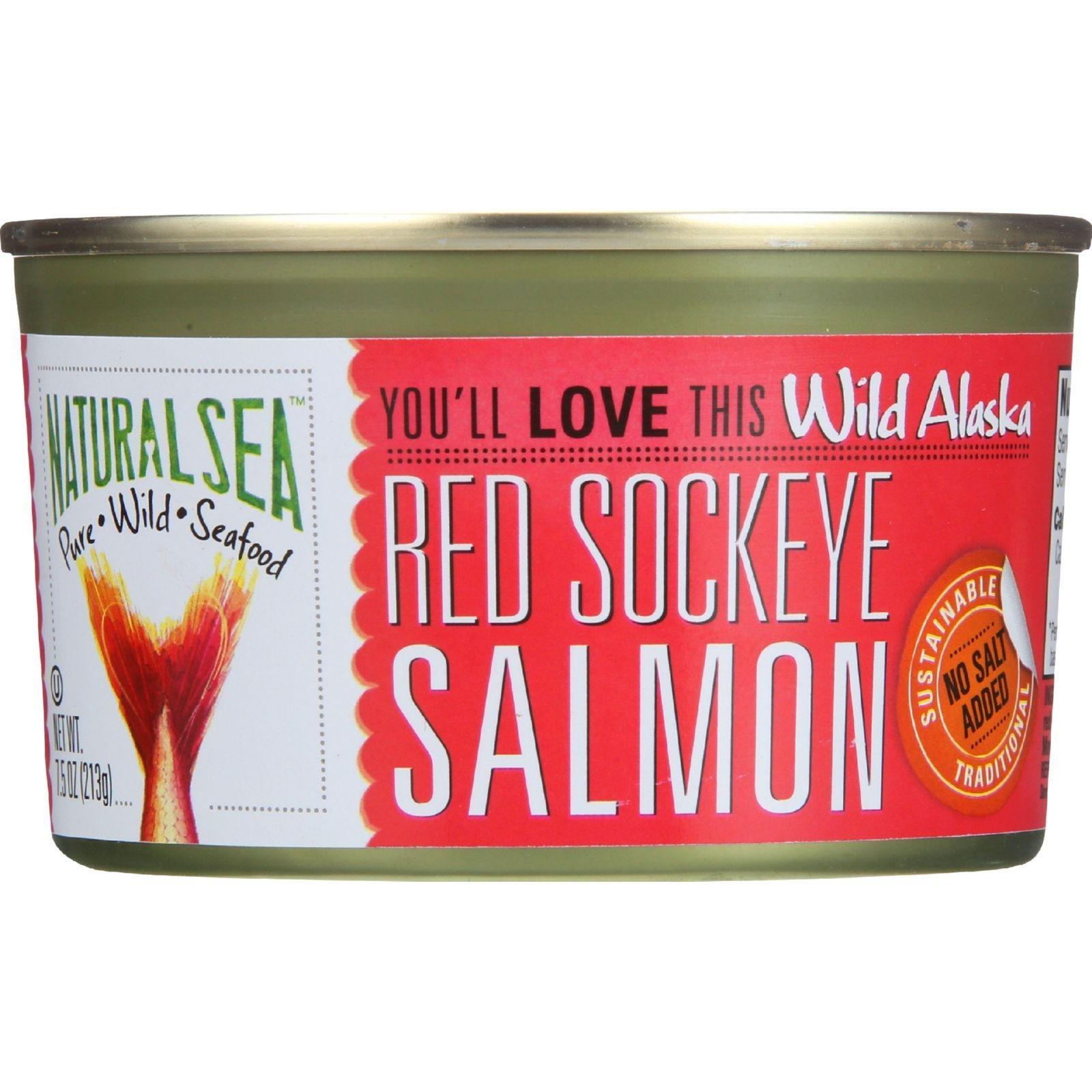 Natural Sea Red Sockeye No Salt Added 7.5 Oz (Pack of 24)