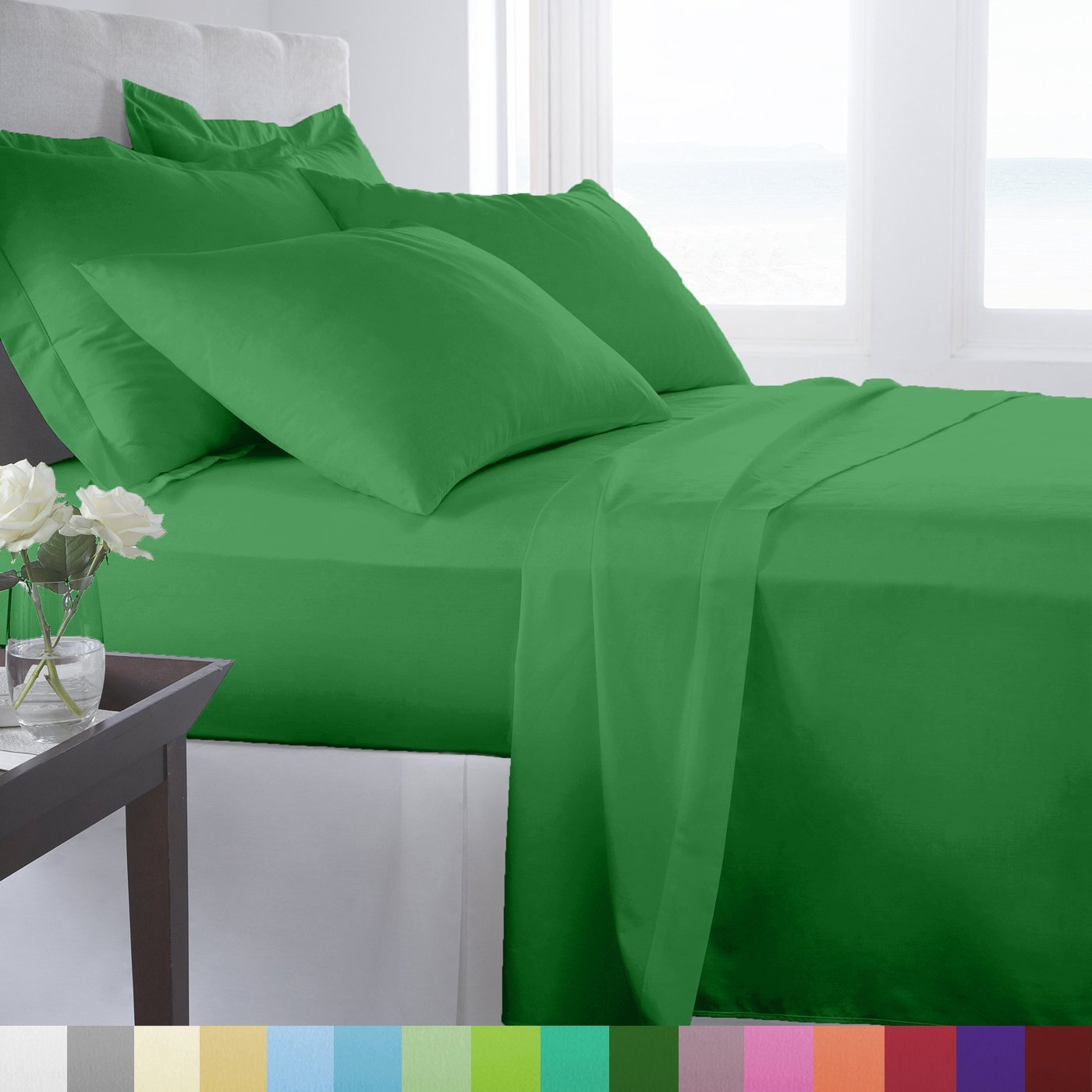 Green Bed Sheet Sets Discounted Sale Ease Bedding With Style