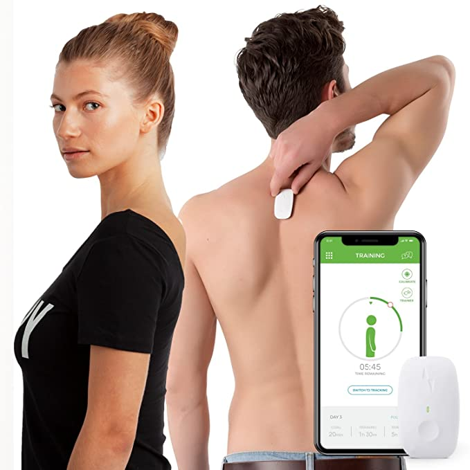 Upright GO | Posture Trainer and Corrector for Back | Strapless, Discrete and Easy to Use | Complete with App and Training Plan | Back Health Benefits and Confidence Builder best women's posture corrector