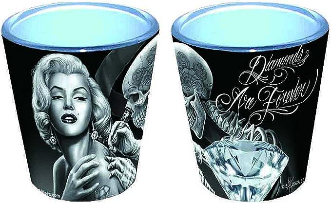 David Gonzales Art vasos de chupito – Marilyn Monroe con tatuajes ...