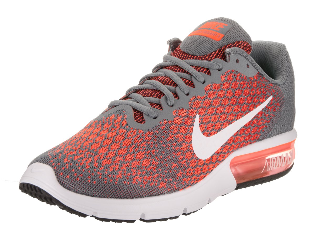 NIKE Men's Air Max Sequent 2 Running Shoe B01H2LOZL4 14 D(M) US|Cool Grey/White-Max Orange