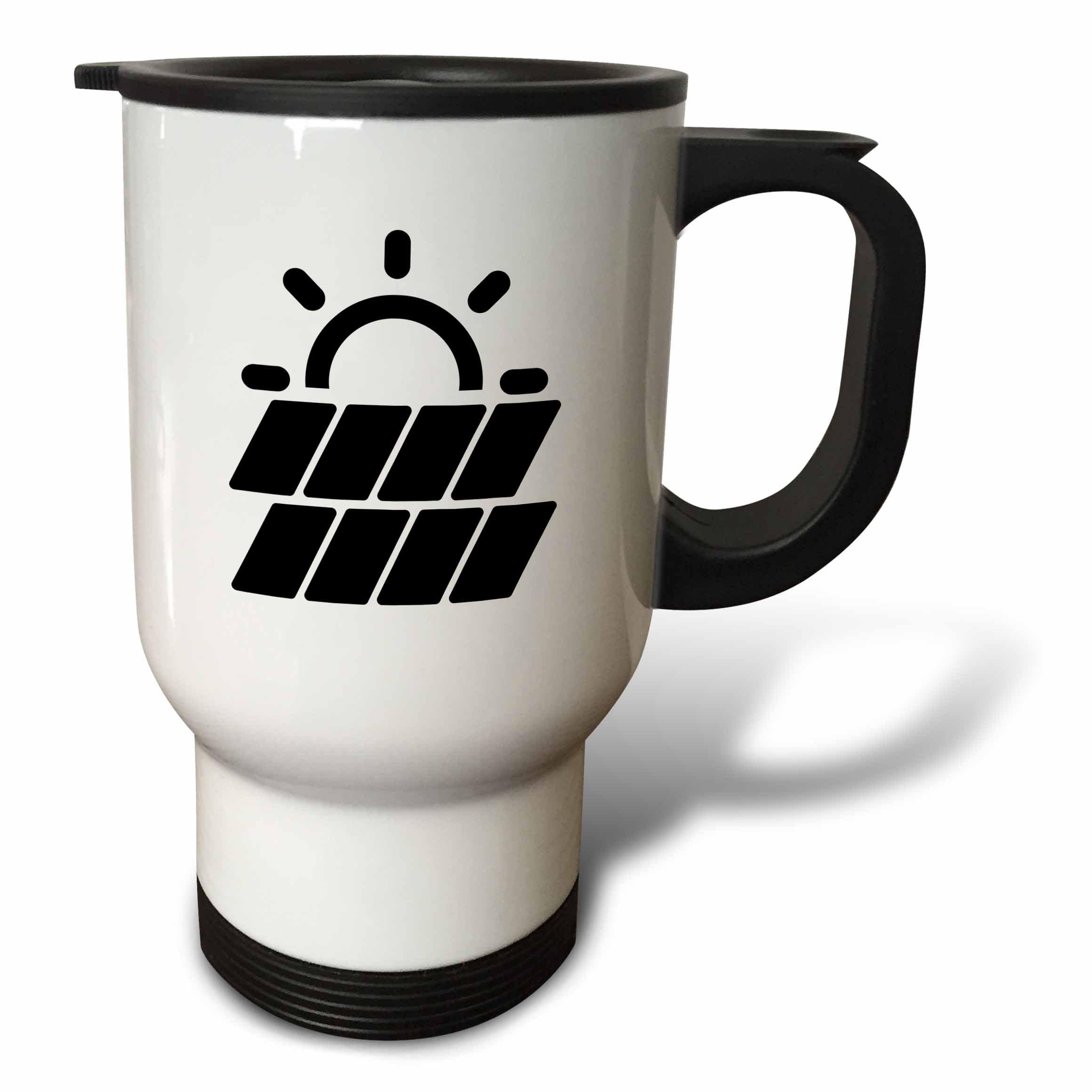 3dRose Carsten Reisinger - Illustrations - Solar Power Symbol Protect the Environment - 14oz Stainless Steel Travel Mug (tm_282669_1)