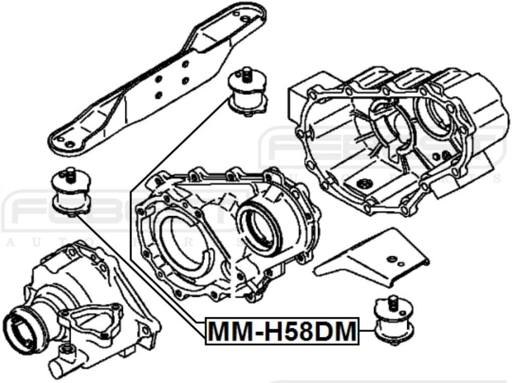 Rear Differential Mount FEBEST MM-H58DM OEM MR165378