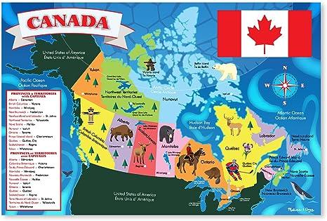 Canada Map Puzzle Amazon.com: Melissa & Doug 48pc Canada Map Floor Puzzle: Melissa