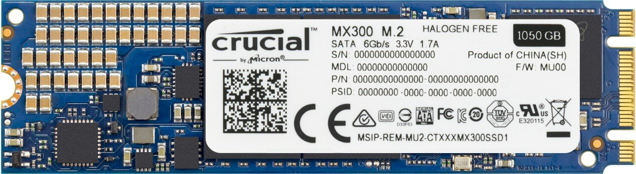 Crucial MX300 1TB SATA M.2 (2280) Internal Solid State Drive - CT1050MX300SSD4
