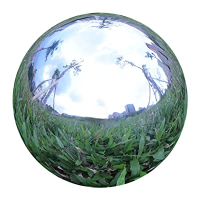 Stainless Steel Mirror Sphere Gazing Globe Hollow Ball for Home Garden Ornament Decoration (58MM) : Garden & Outdoor