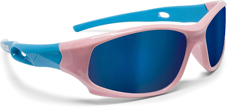 Amazon.com: Bertoni Kids Sport Sunglasses - Polarized Lens Antiglare 100%  UV Protection - Unisex Children 4-10 Years Sunglasses KID by Bertoni Italy  (Light Blue/Pink): Clothing