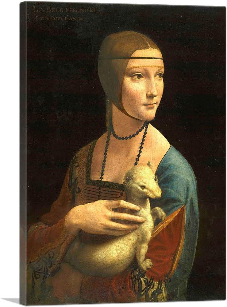 ARTCANVAS Lady Max 81% OFF with an Ermine 1489 by New York Mall Print Canvas Art Leonardo