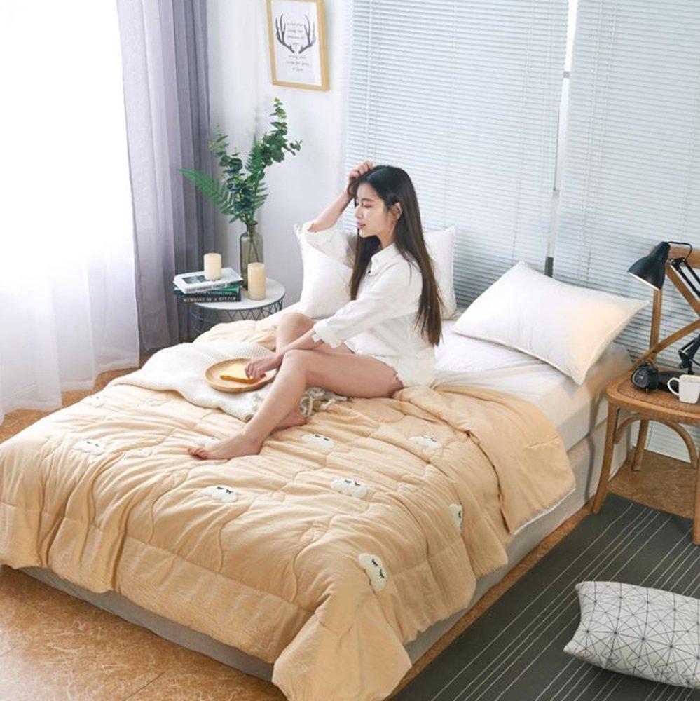 LVZAIXI 100%コットンダブルサイズのキルトベッドカバーの3つのセットは、ベッドカバーを縫うベッド (色 : 01, サイズ さいず : 180X200cm) B07D71N3TR 1 180X200cm