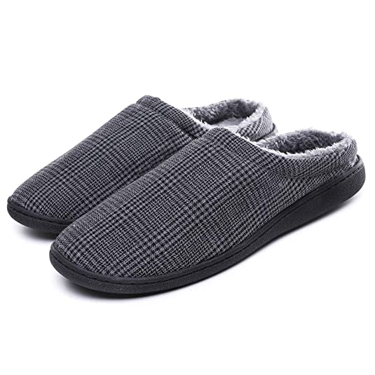 SCIEN Men's Women's House Slippers Lightweight Breathable Cotton Anti-Slip Indoor Shoes