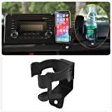 YOCTM for Suzuki Jimny 2019 2020 Car Mount Phone Holder Multifunction Water Cup Drink Stand Bracket Black (Pack of 1) (Water Cup Phone Holder) (Color: Water Cup Phone Holder, Tamaño: for Suzuki Jimny 2019 2020)