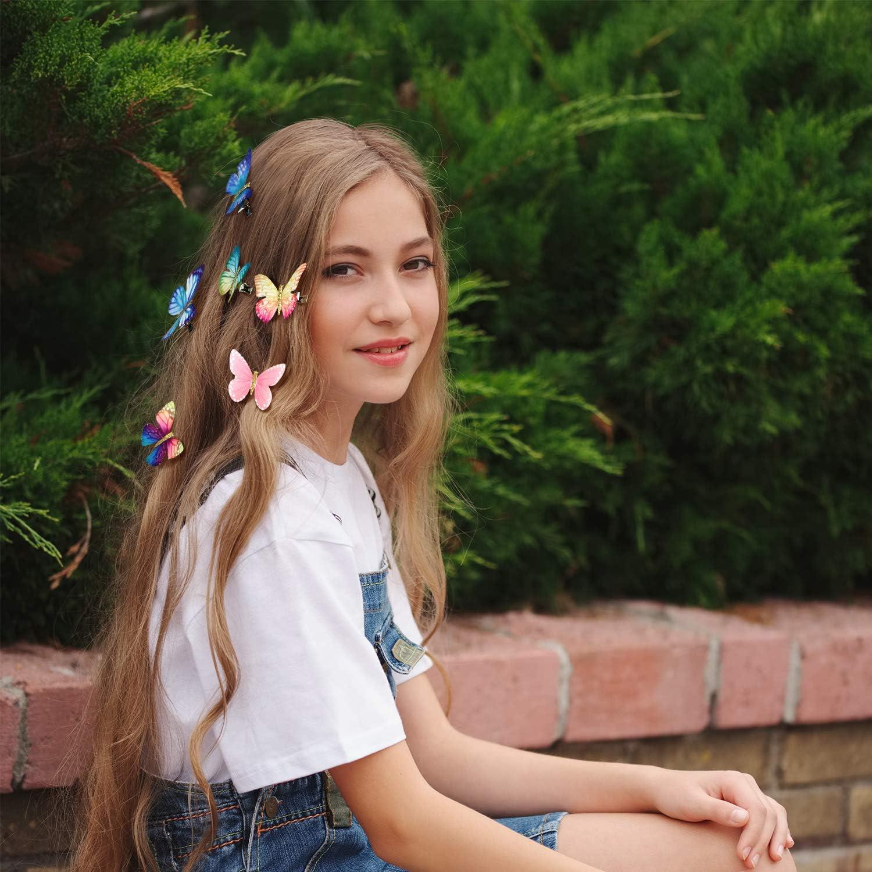 2pcs Mode filles papillon barrette pince à cheveux en épingle à cheveux acYJFR